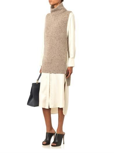 Adam Lippes Sleeveless cashmere-blend sweater