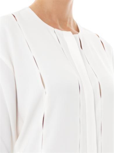 Adam Lippes Oversize-stitch crepe blouse