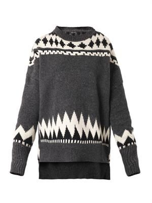 Fair Isle-knit sweater