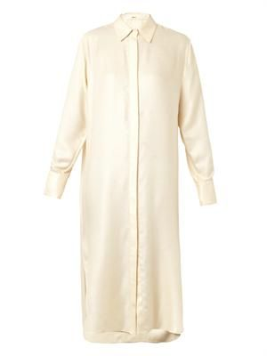 Cashmere and silk-blend shirt dress