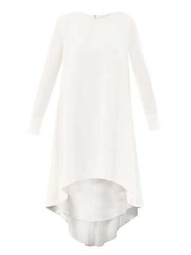 Adam Lippes Trapeze drape-back silk dress