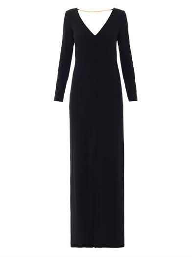 Adam Lippes Chain embellished crepe gown