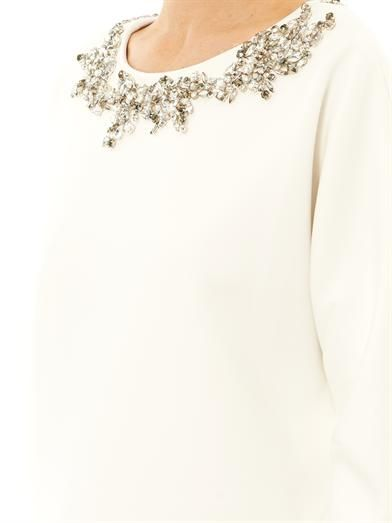 Adam Lippes Embellished scuba sweater