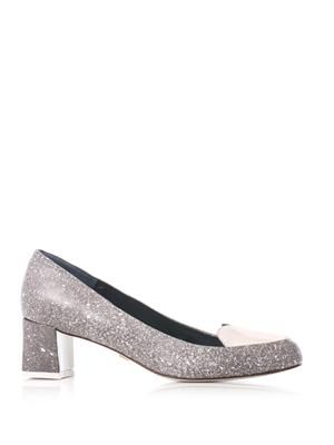 Kelly block heel pumps