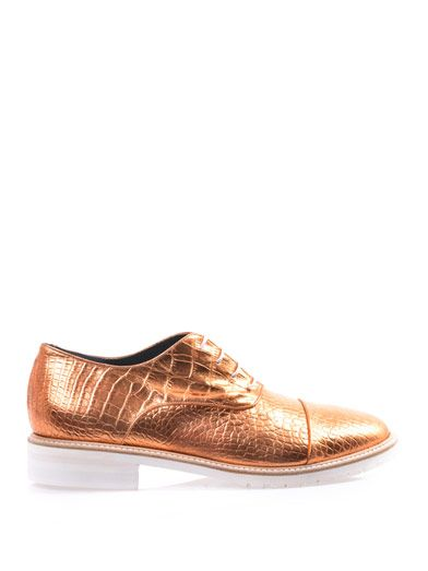 Amélie Pichard Coco metallic leather brogues