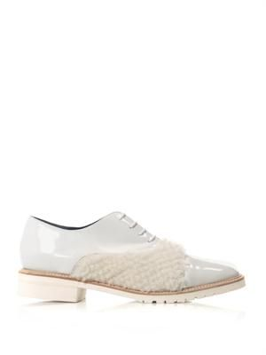 Coco shearling panel lace-ups