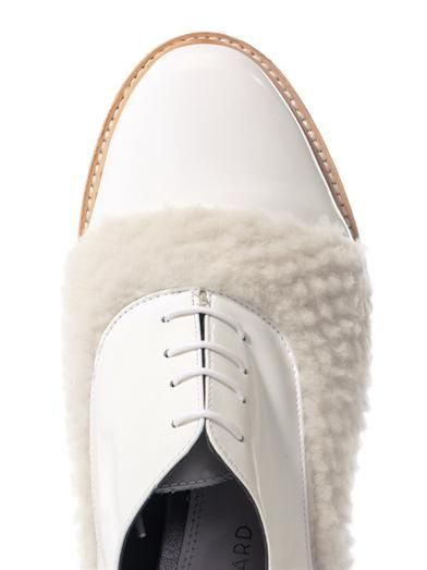 Amélie Pichard Coco shearling panel lace-ups