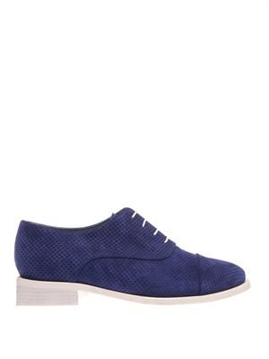 Coco perforated suede lace-up shoes