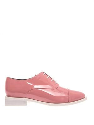 Coco patent leather lace-up shoes