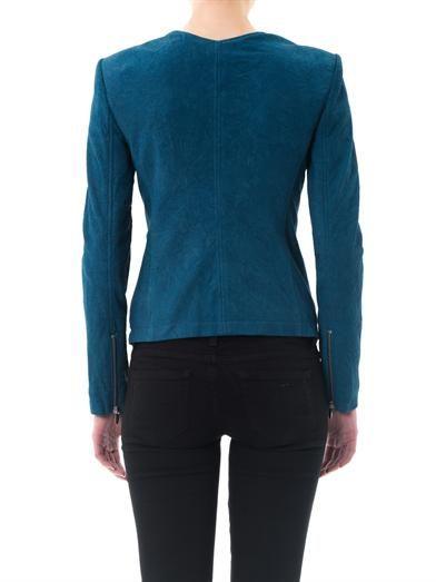 Theyskens' Theory Nasha nubuck suede jacket
