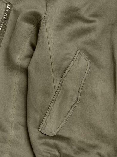 Theyskens' Theory Jilla linen bomber jacket