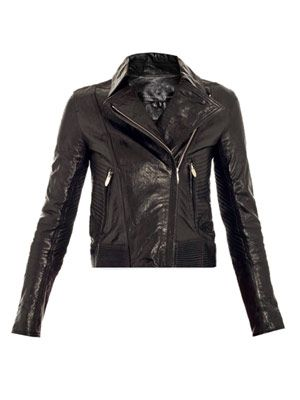 Javda leather biker-jacket