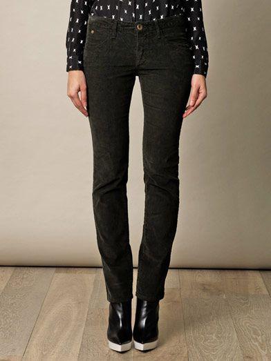 Theyskens' Theory Piran corduroy mid-rise straight-leg jeans