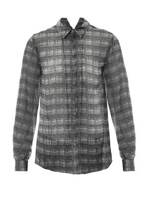 Iarel sheer check blouse