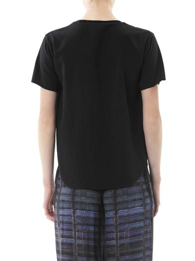 Theyskens' Theory Feho asymmetric pleat T-shirt