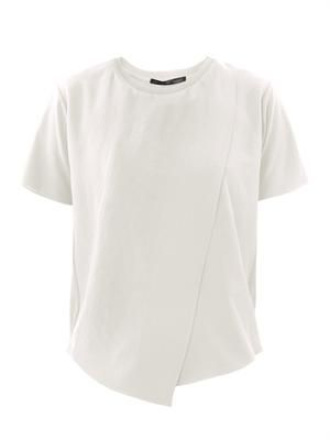 Feho asymmetric pleat T-shirt