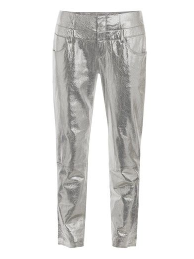 Theyskens' Theory Nalaminium postel leather trousers