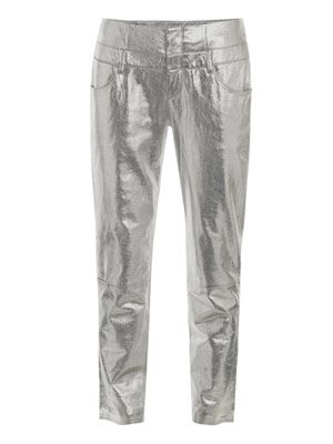 Nalaminium postel leather trousers