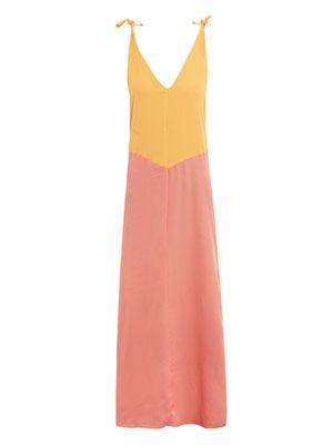 Banana and melon maxi dress