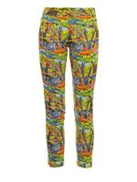 Aloha tropical-print trousers