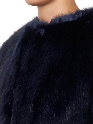 Shrimps Joseph navy faux-fur coat