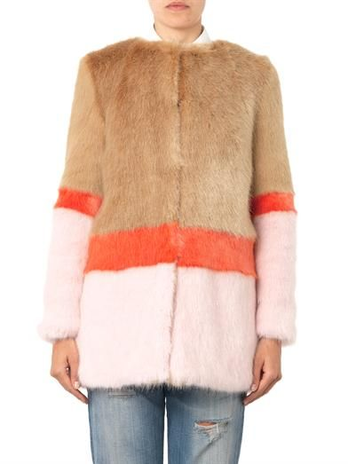 Shrimps Mabel faux-fur coat