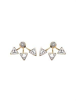 Suki lobe-cuff earrings