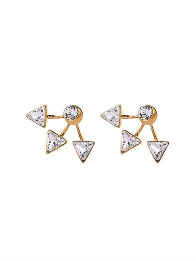 CA&LOU Suki lobe-cuff earrings