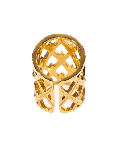 CA&LOU Sacha crystal embellished ring