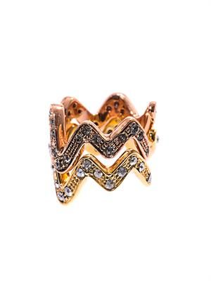 Carine zigzag stacking ring