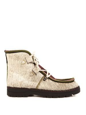 Incredible calf-hair ankle boots