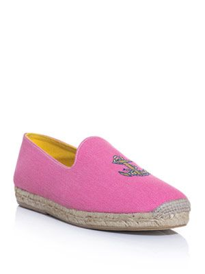 Anchor embroidered espadrilles