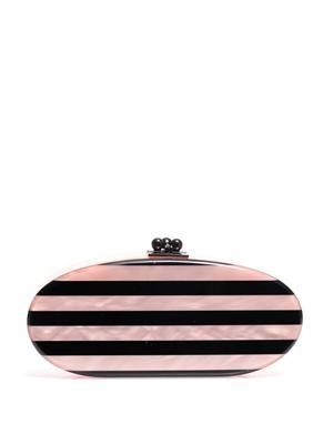 Edie stripe oval clutch