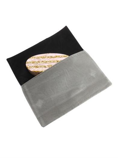 Edie Parker Edie striped oval clutch
