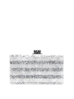 Jean striped box clutch