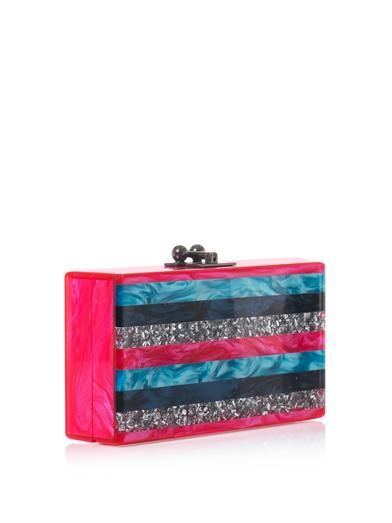 Edie Parker Jean striped box clutch