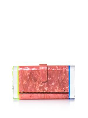 Lara backlit box clutch