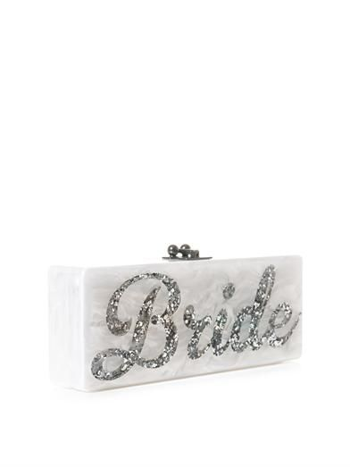 Edie Parker Bride box clutch