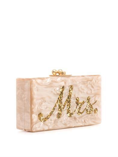 Edie Parker Mrs. box clutch