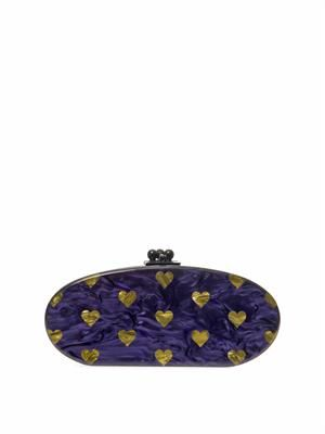 Edie Hearts oval clutch