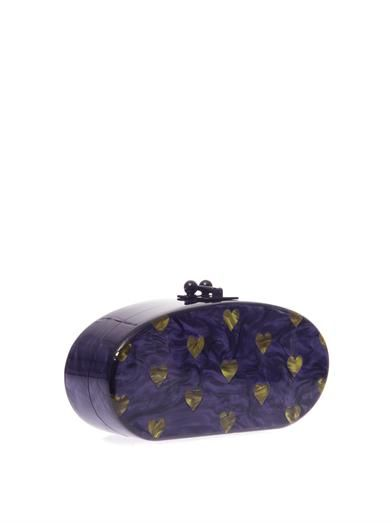Edie Parker Edie Hearts oval clutch