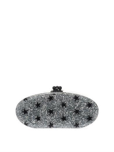 Edie Parker Stars glitter oval clutch