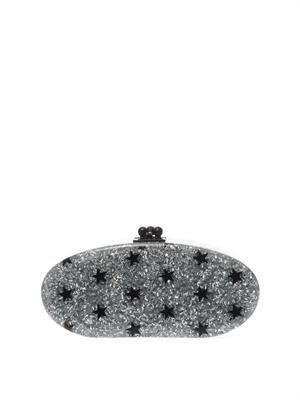 Stars glitter oval clutch