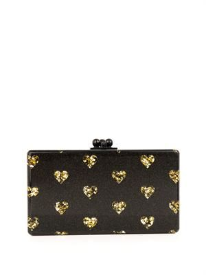 Jean Hearts box clutch