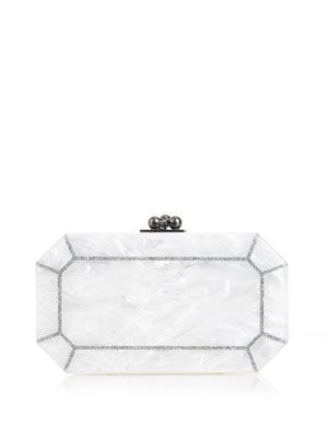Fiona faceted box clutch