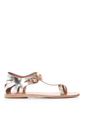 Ariadne metallic leather sandals