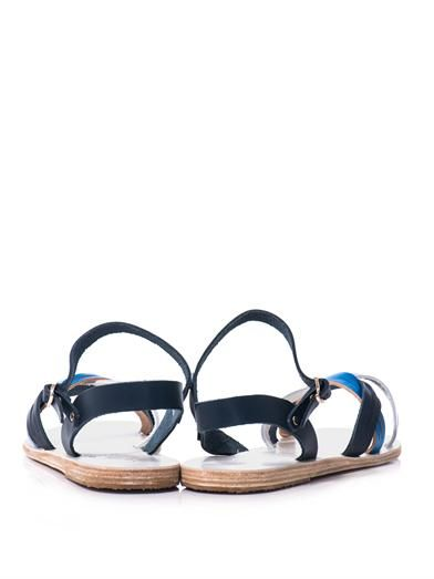 Ancient Greek Sandals Electra tri-colour sandals