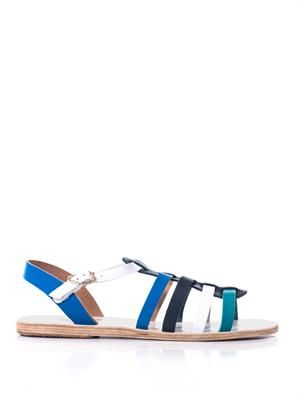 Korinna tri-colour leather sandals