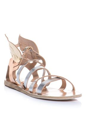 Nephele metallic-leather sandals