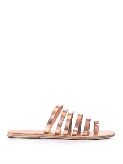 Ancient Greek Sandals Niki metallic leather sandals